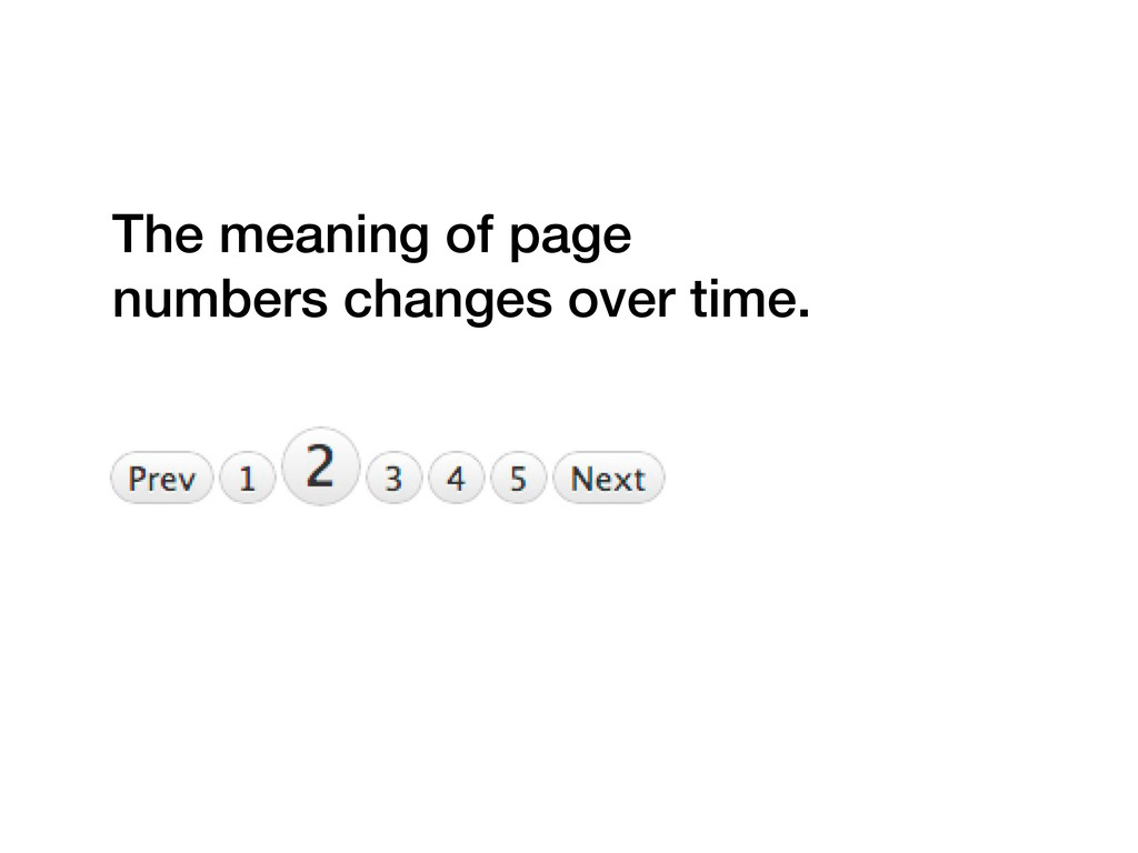 The meaning of page numbers changes over time.