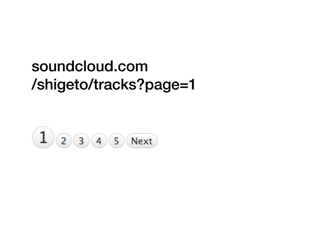 soundcloud.com /shigeto/tracks?page=1