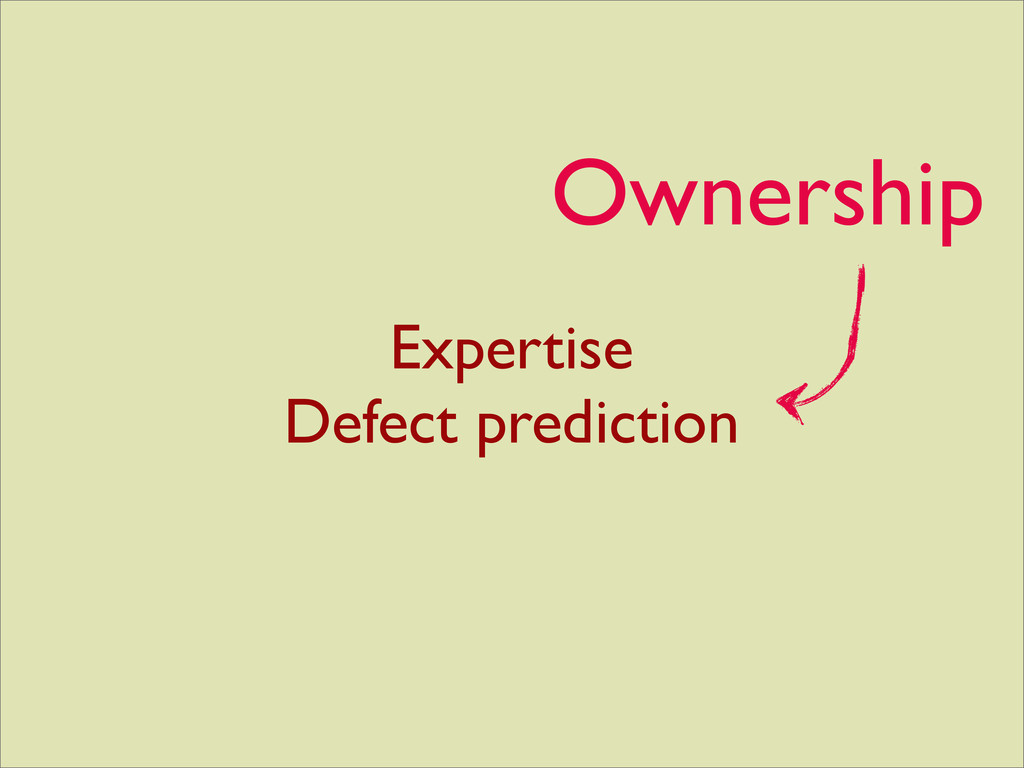 Expertise Defect prediction Ownership