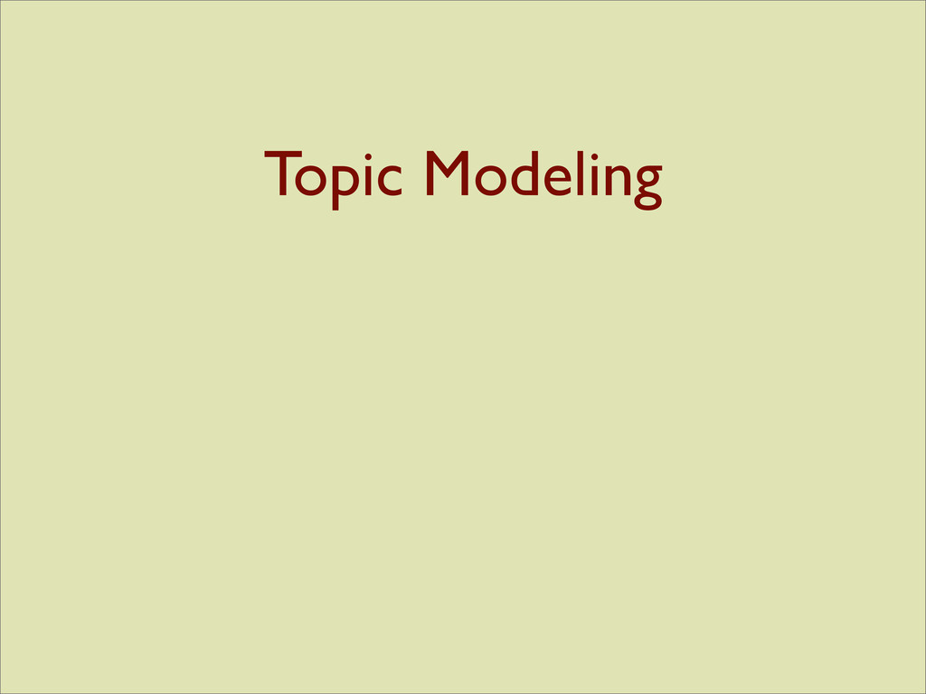 Topic Modeling