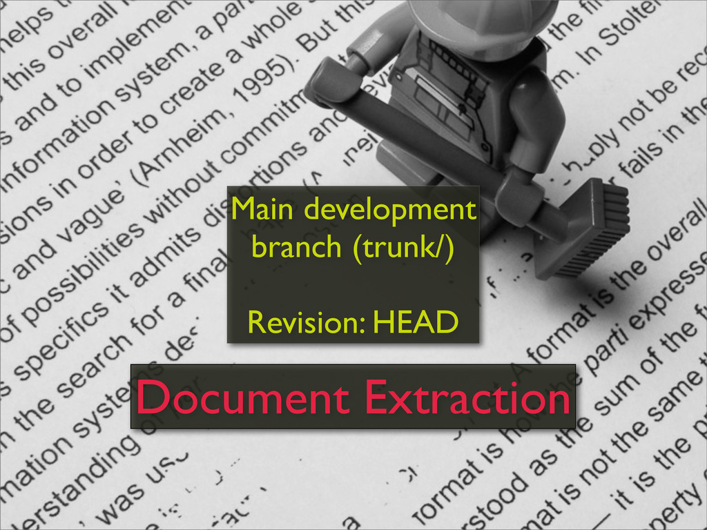 Main development branch (trunk/) Revision: HEAD...