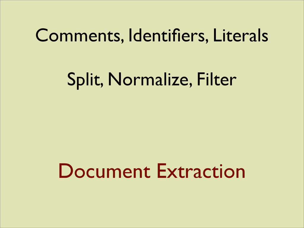 Document Extraction Comments, Identifiers, Liter...