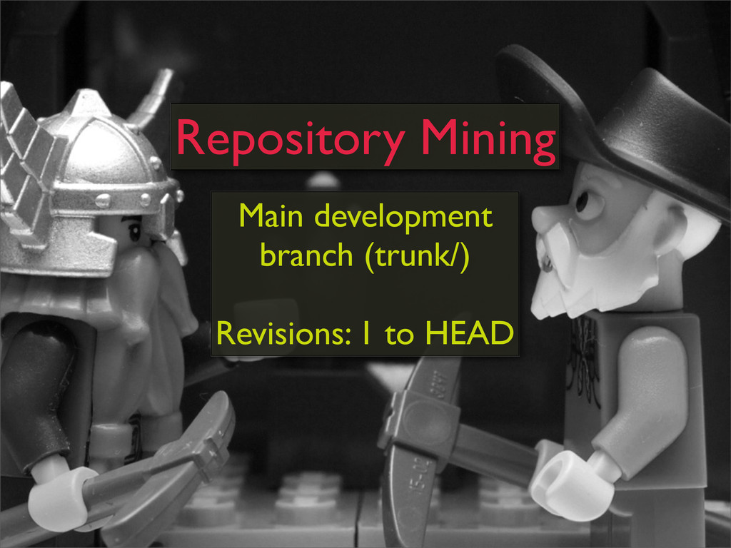 Main development branch (trunk/) Revisions: 1 t...