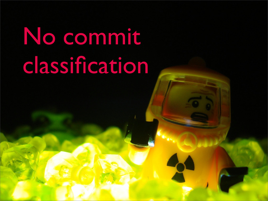 No commit classification