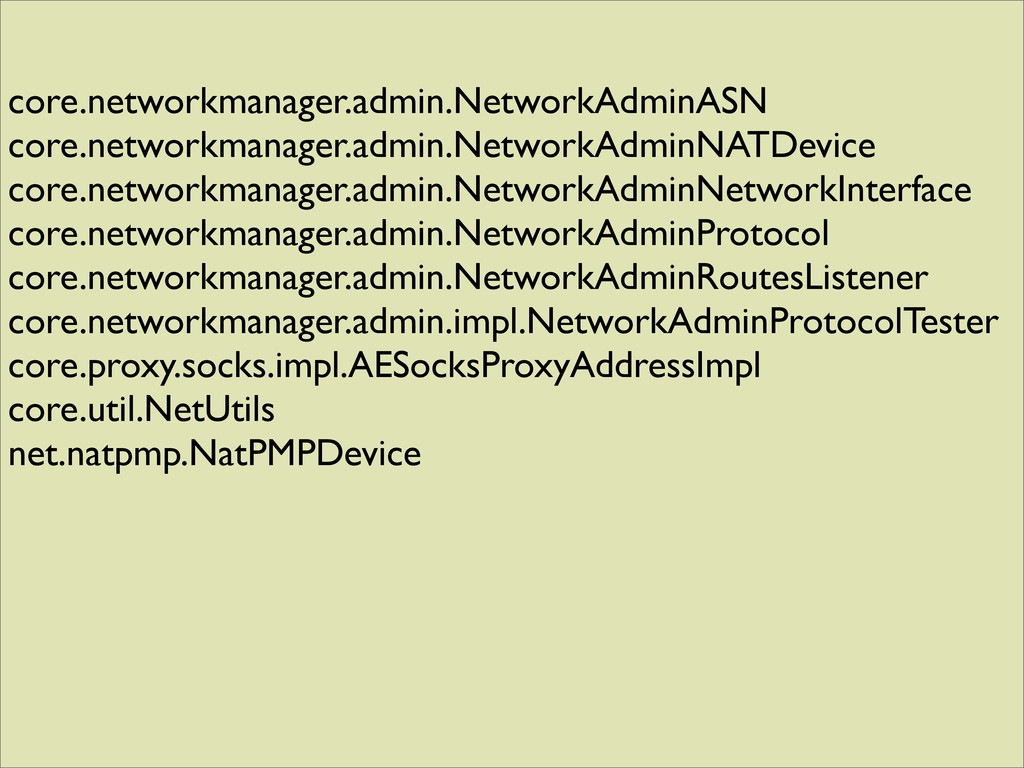 core.networkmanager.admin.NetworkAdminASN core....