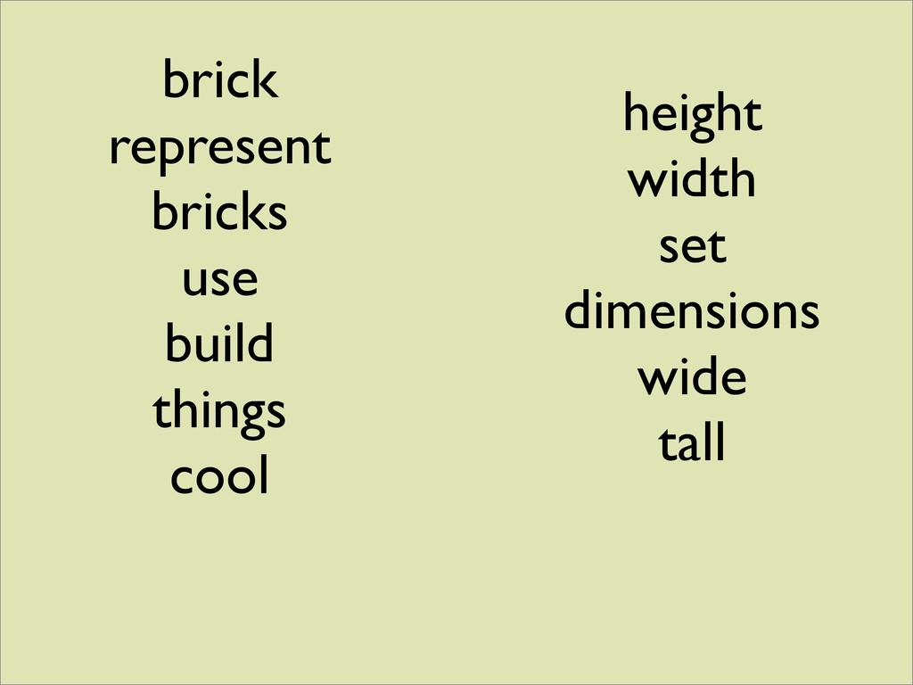 brick represent bricks use build things cool he...