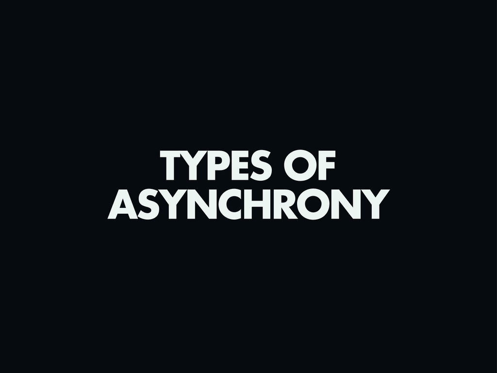TYPES OF ASYNCHRONY