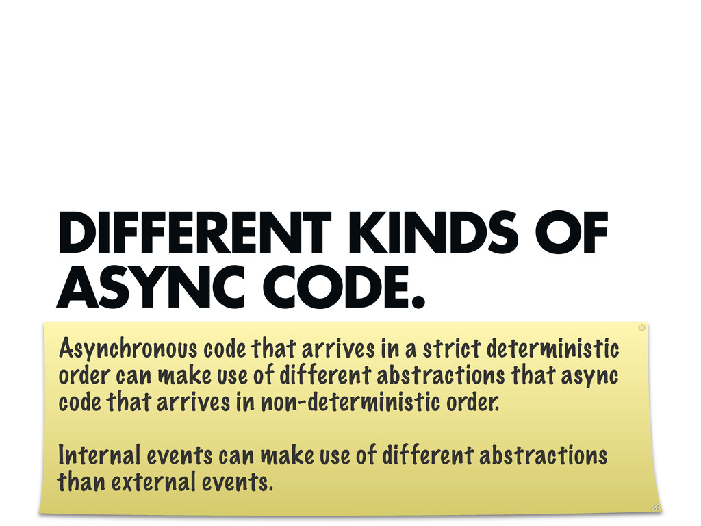DIFFERENT KINDS OF ASYNC CODE. Asynchronous cod...