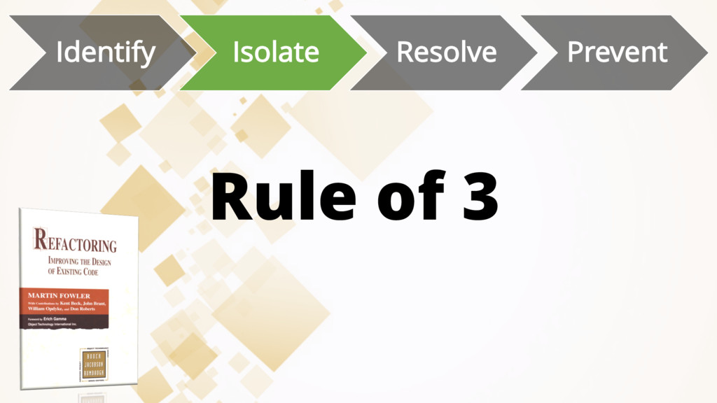 Rule of 3 Identify Isolate Resolve Prevent