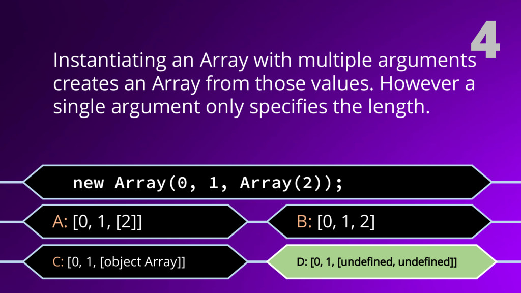 4 Instantiating an Array with multiple argument...