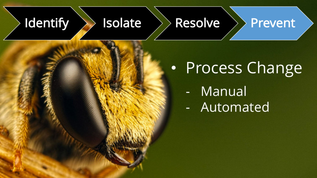 Identify Isolate Resolve Prevent • Process Chan...