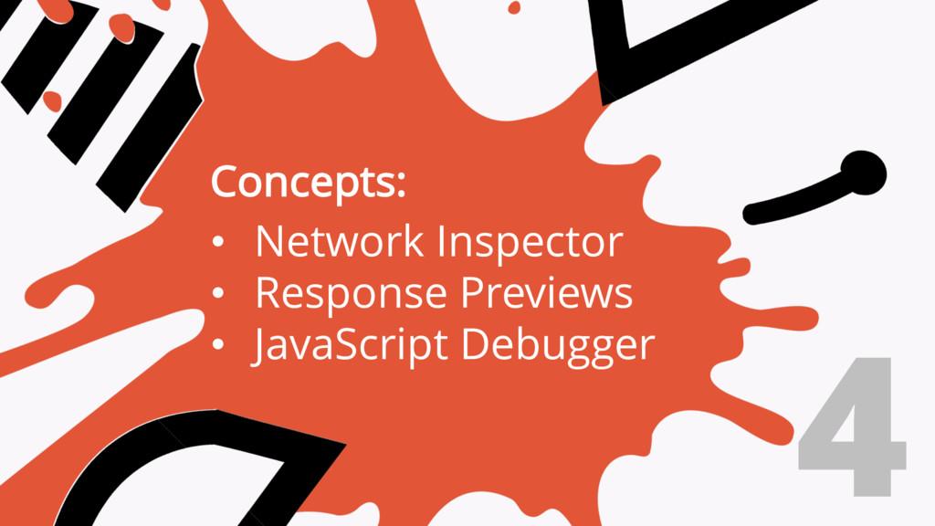 4 Concepts: • Network Inspector • Response Prev...