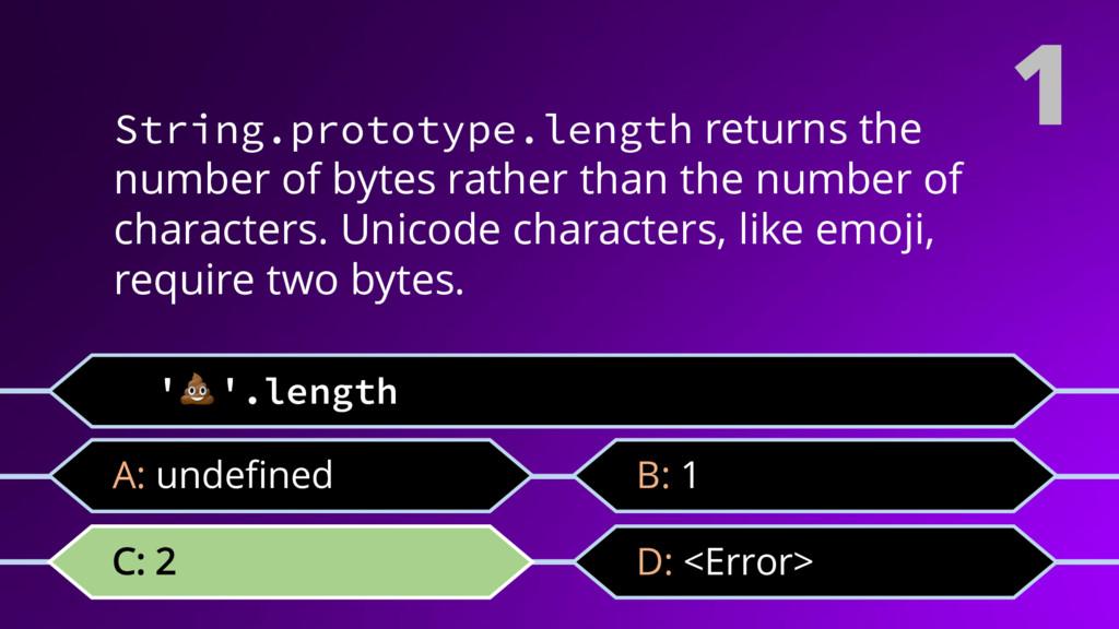 ''.length C: 2 1 D: <Error> A: undefined B: 1 S...