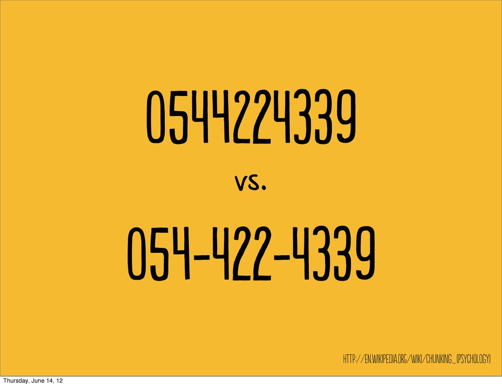 54239 vs. 54-22-39 hT://E.WiieI...