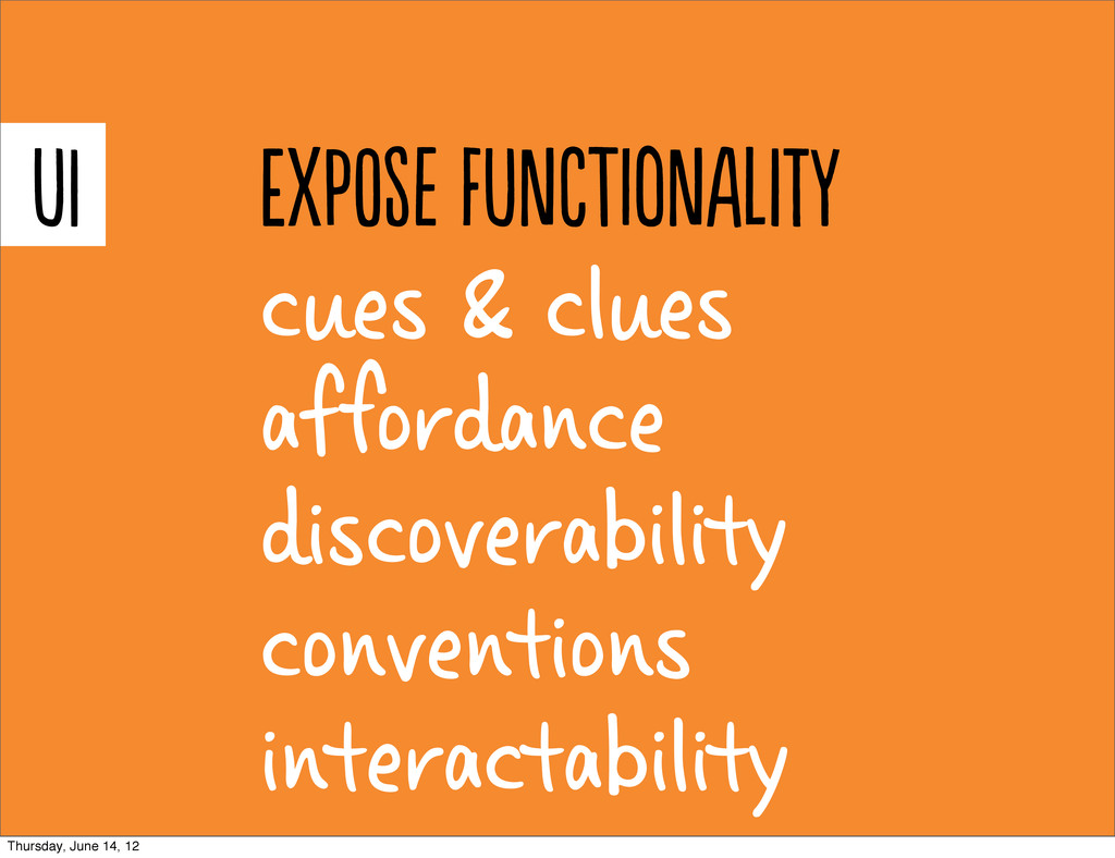 cues & clues afordance discoverability convent...
