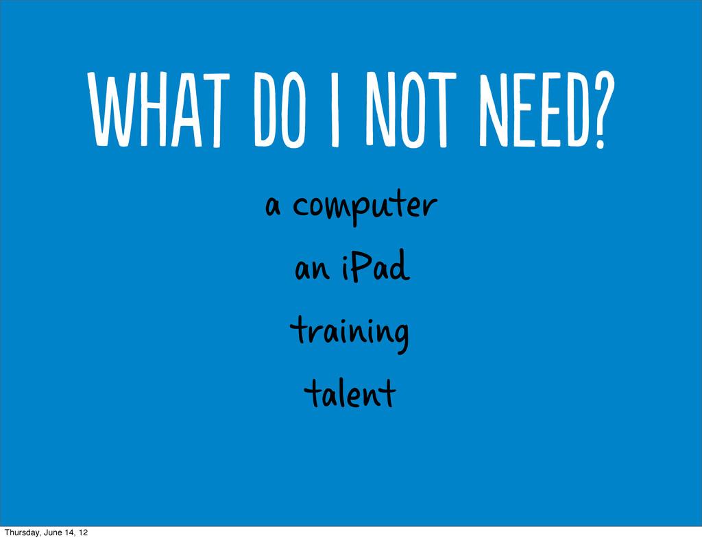 a computer an iPad training talent Wt d  n...