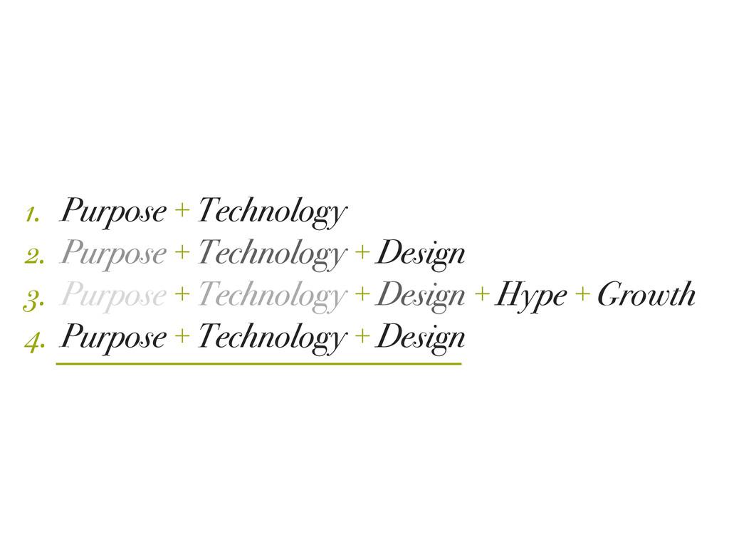 Purpose + Technology Purpose + Technology + Des...