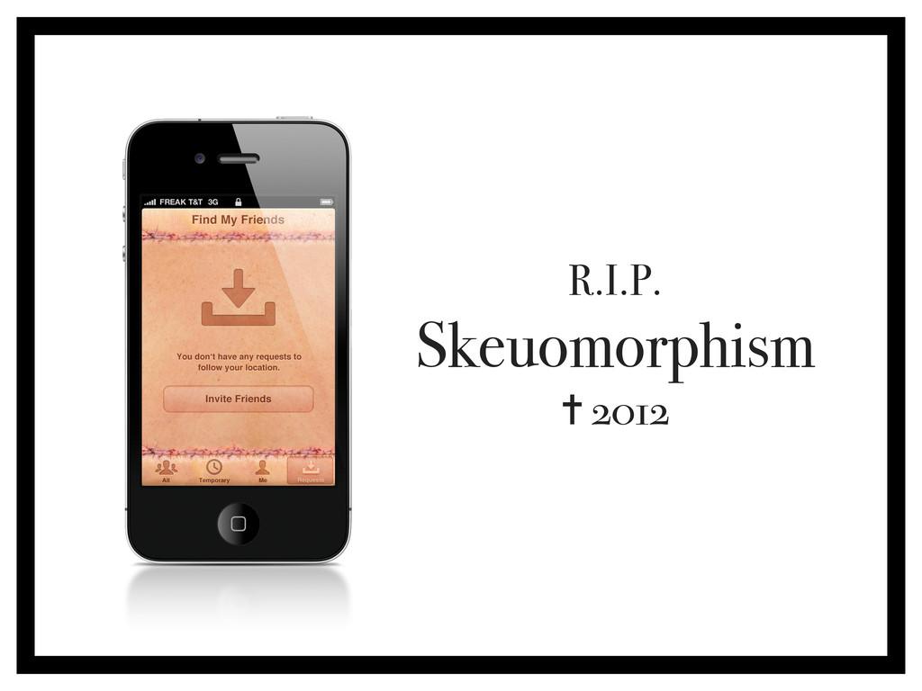 R.I.P. Skeuomorphism ✝ 2012