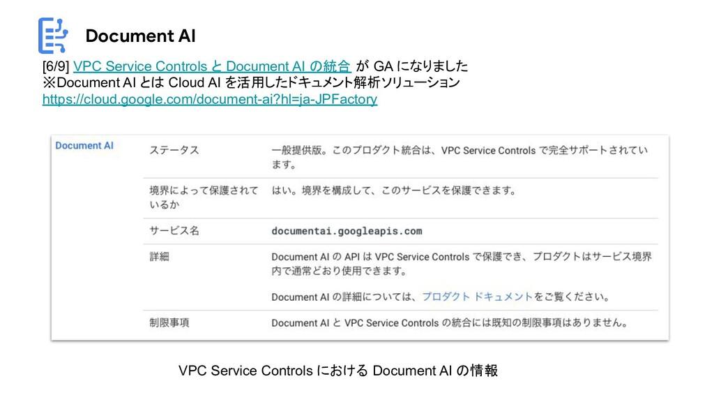Document AI [6/9] VPC Service Controls と Docume...