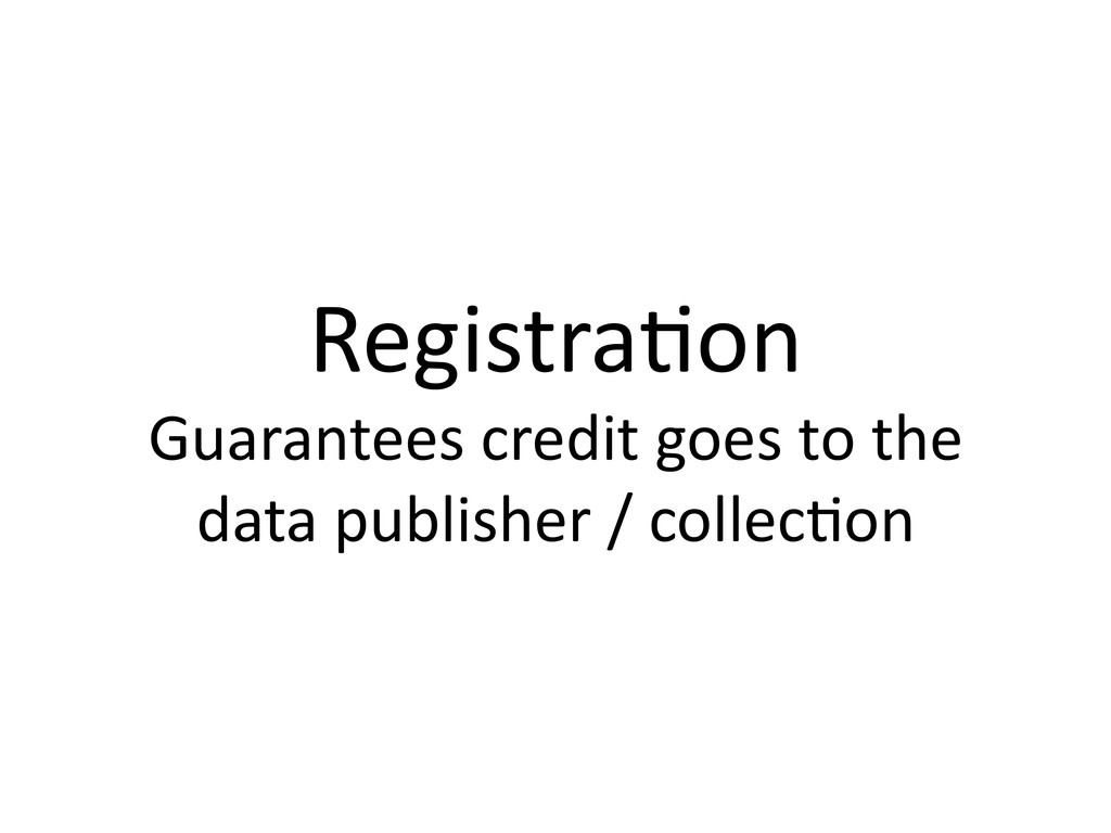 Registra1on  Guarantees credit goes ...