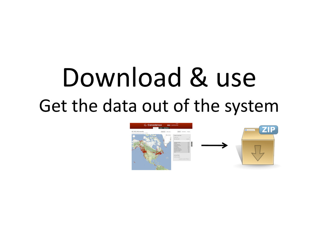 Download & use  Get the data ...