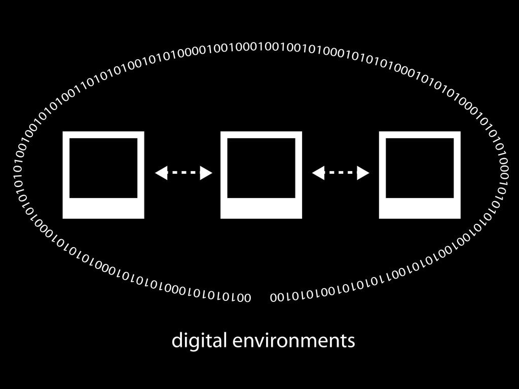 digital environments 00101010100010101010001010...