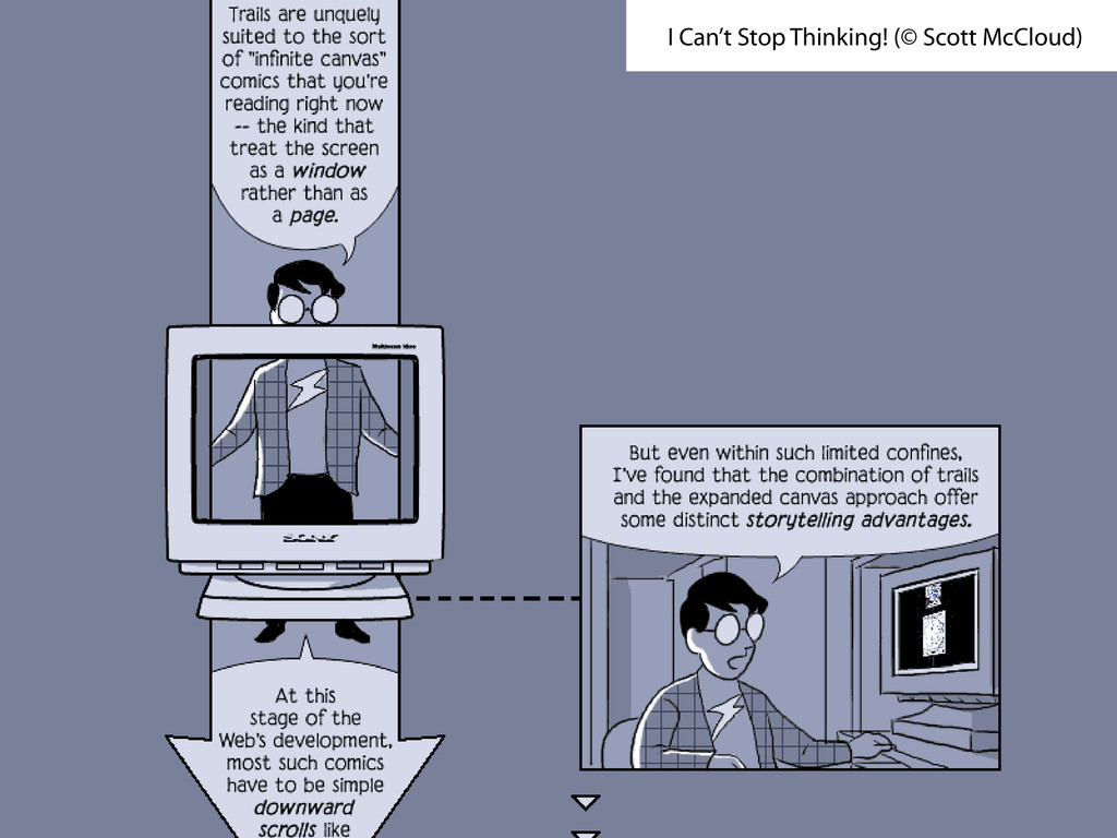 I Can't Stop Thinking! (© Scott McCloud)
