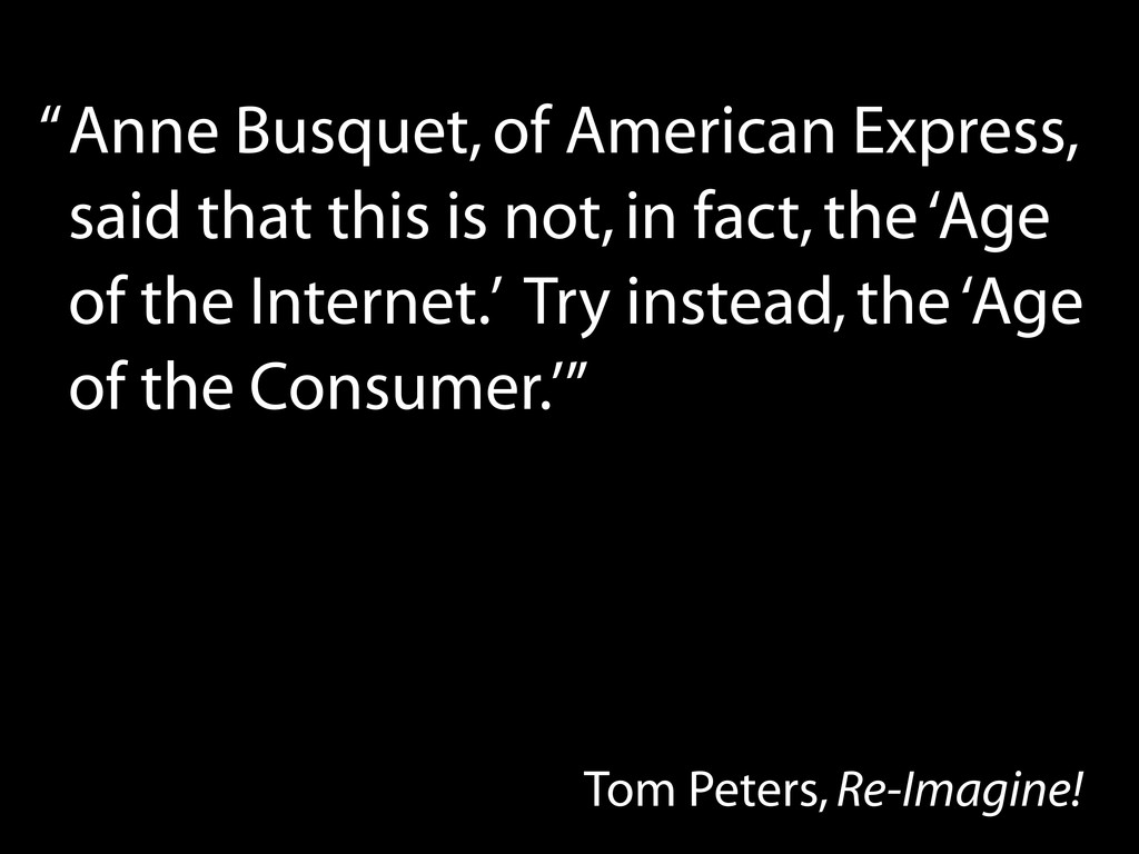 Anne Busquet, of American Express, said that th...