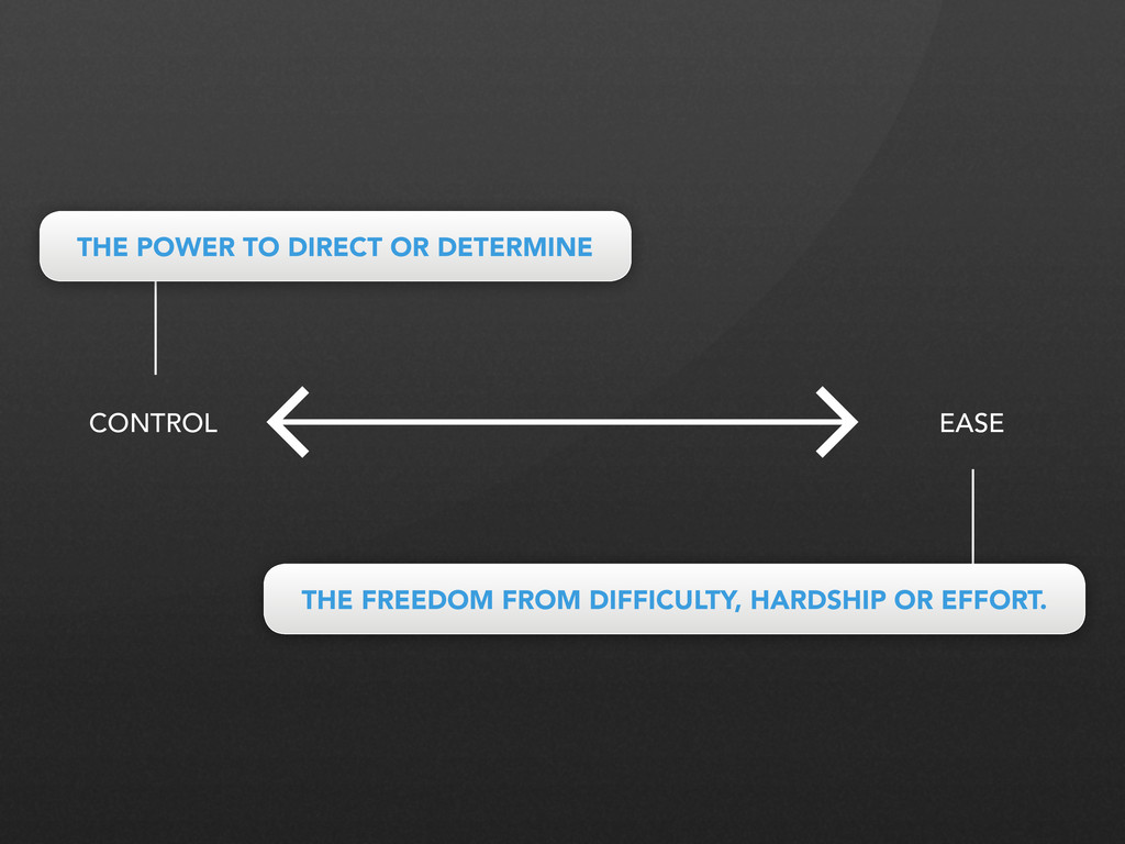 CONTROL EASE THE POWER TO DIRECT OR DETERMINE T...