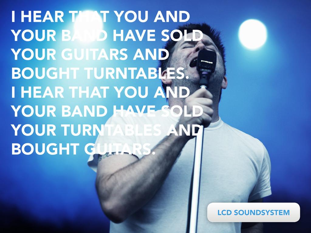 LCD SOUNDSYSTEM LCD SOUNDSYSTEM I HEAR THAT YOU...