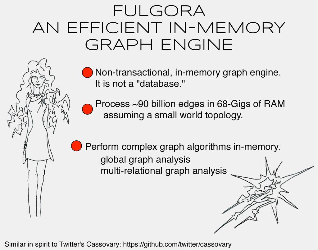 FULGORA AN EFFICIENt IN-MEMORY GRAPH ENGINE Non...