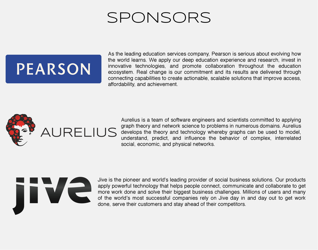 SPONSORS As the leading education services comp...