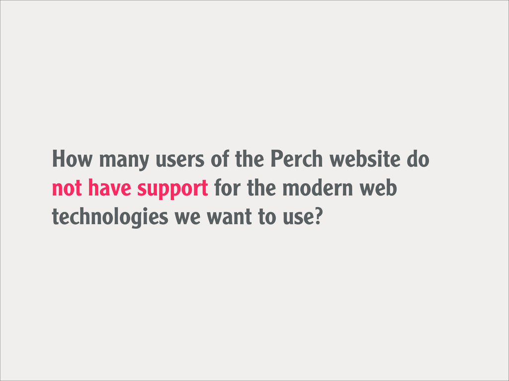 How many users of the Perch website do not have...