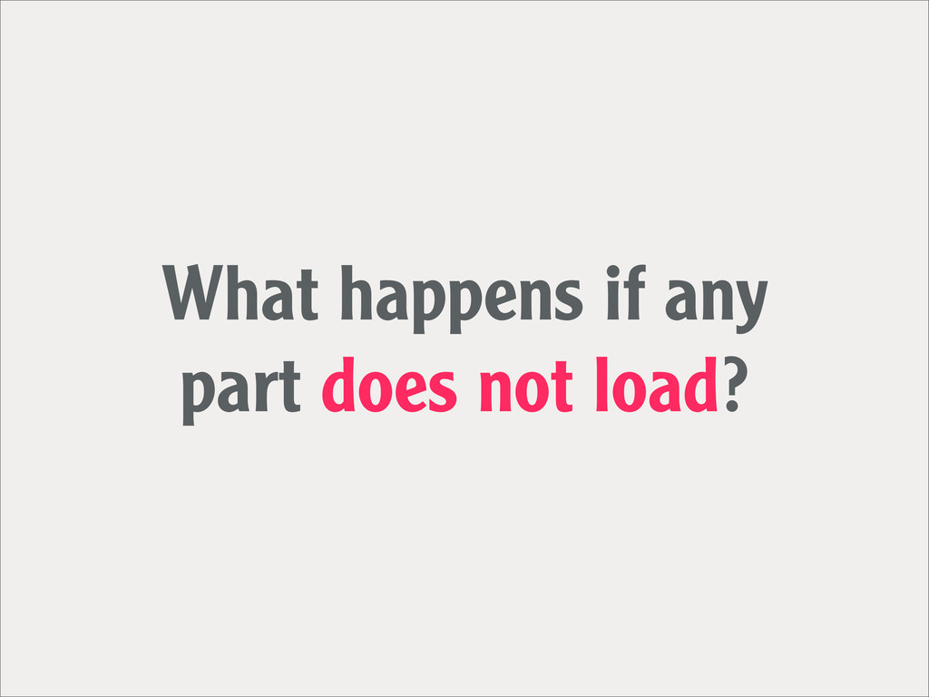 What happens if any part does not load?