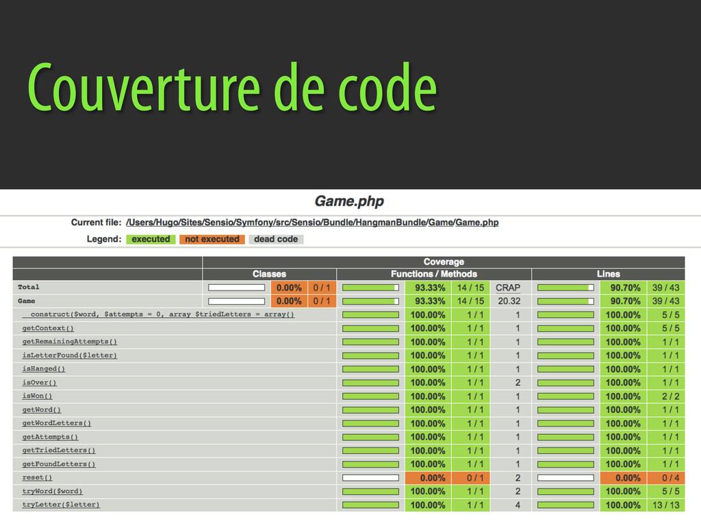Couverture de code
