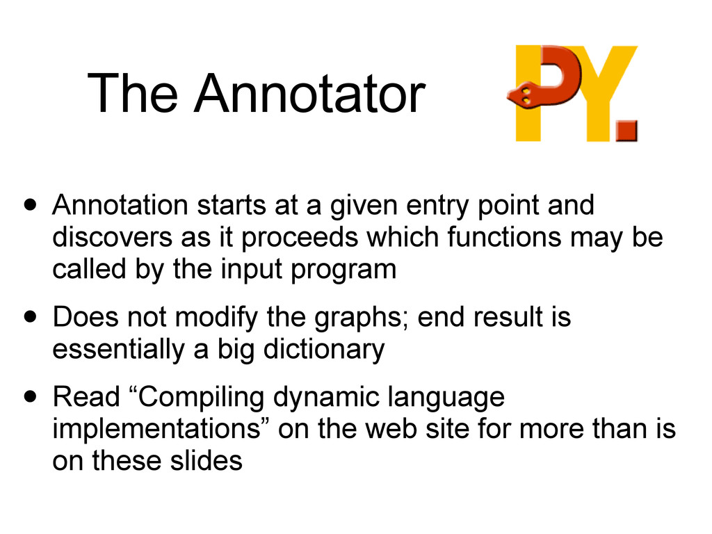 The Annotator • Annotation starts at a given en...