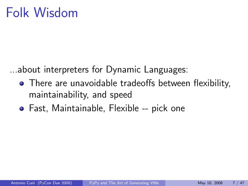 Folk Wisdom ...about interpreters for Dynamic L...
