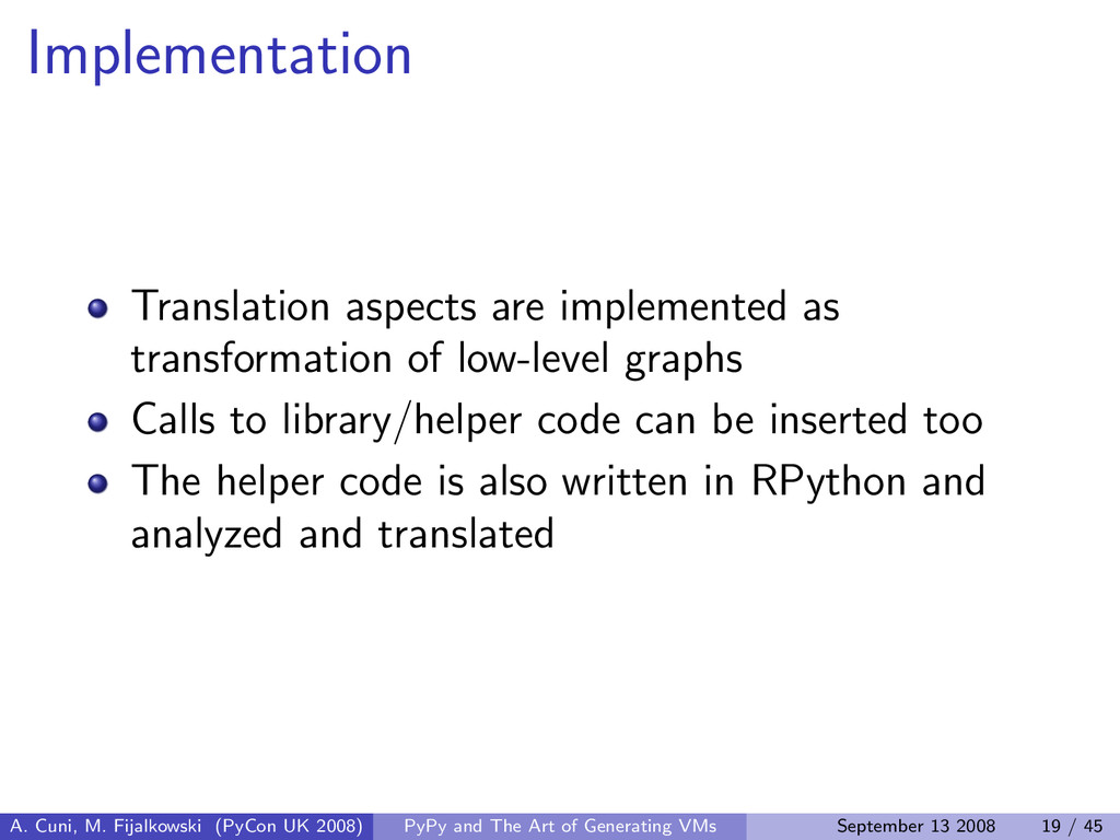 Implementation Translation aspects are implemen...