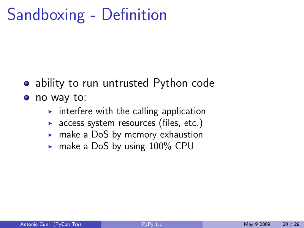 Sandboxing - Definition ability to run untrusted...