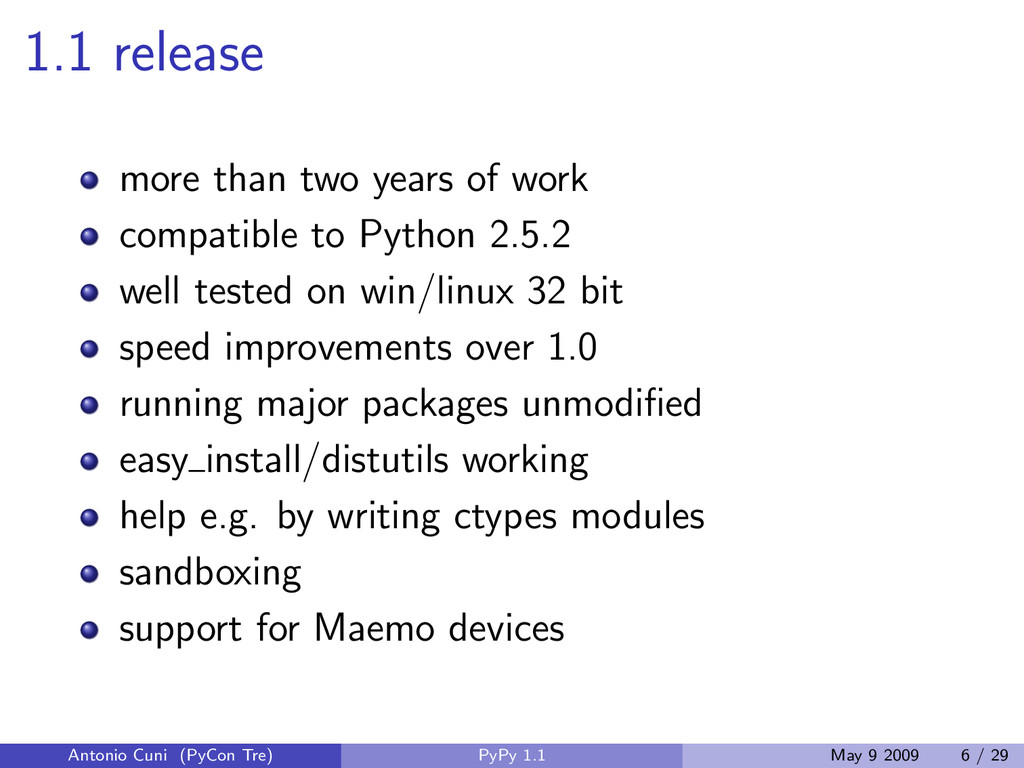 1.1 release more than two years of work compati...