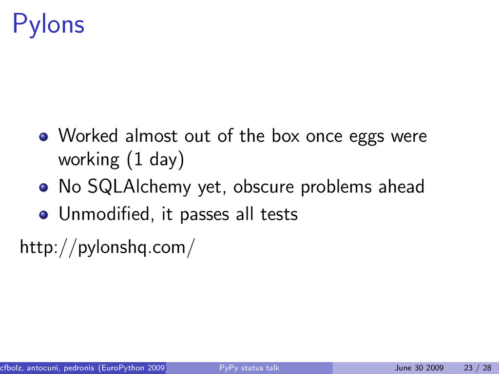 Pylons Worked almost out of the box once eggs w...