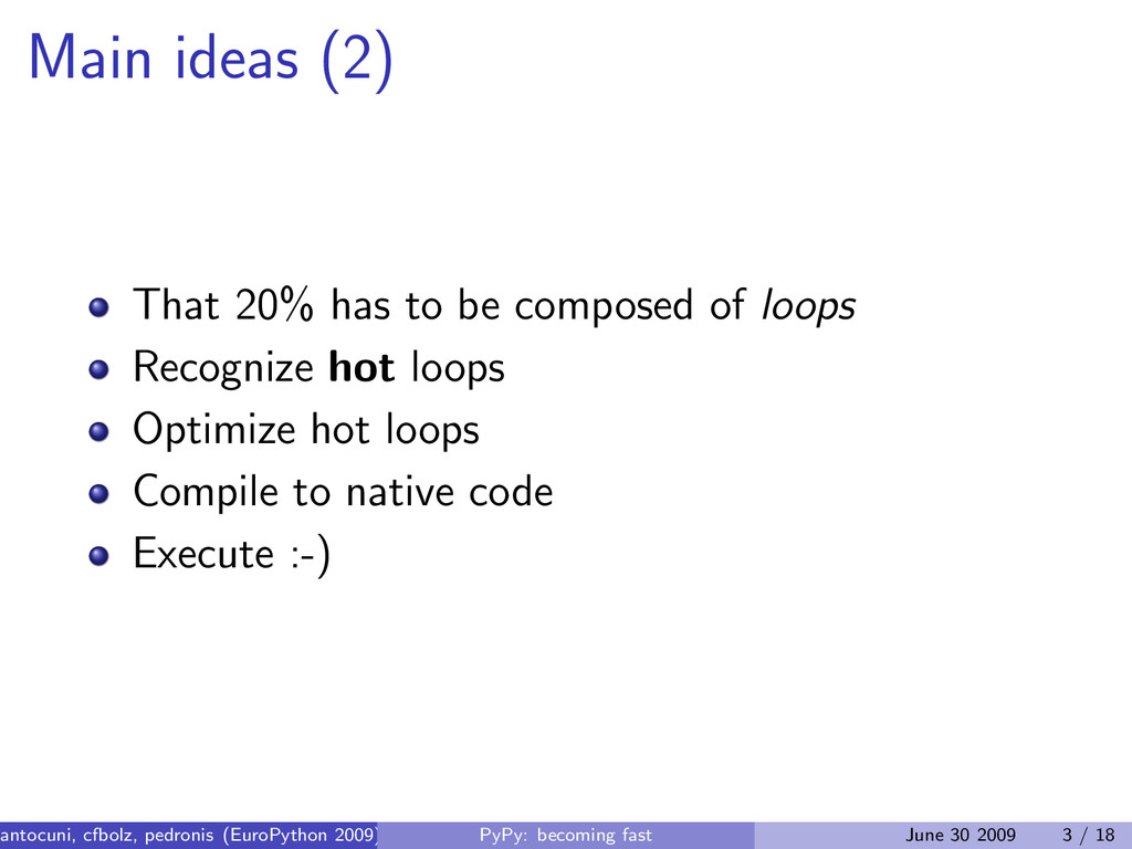 Main ideas (2) That 20% has to be composed of l...