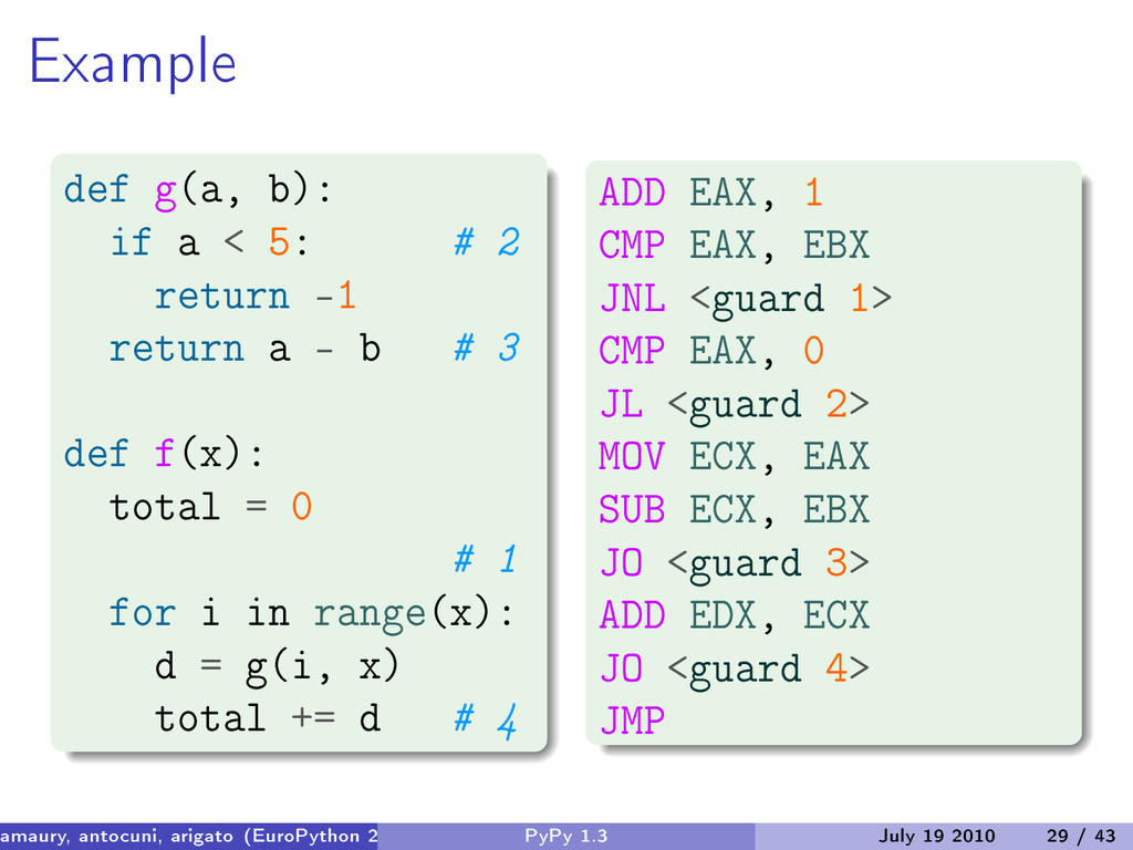 Example def g(a, b): if a < 5: # 2 return -1 re...