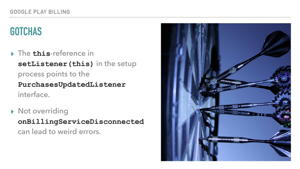 GOTCHAS ▸ The this-reference in setListener(thi...