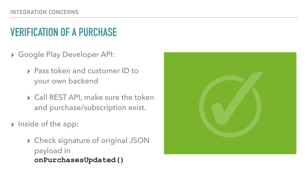 VERIFICATION OF A PURCHASE ▸ Google Play Develo...