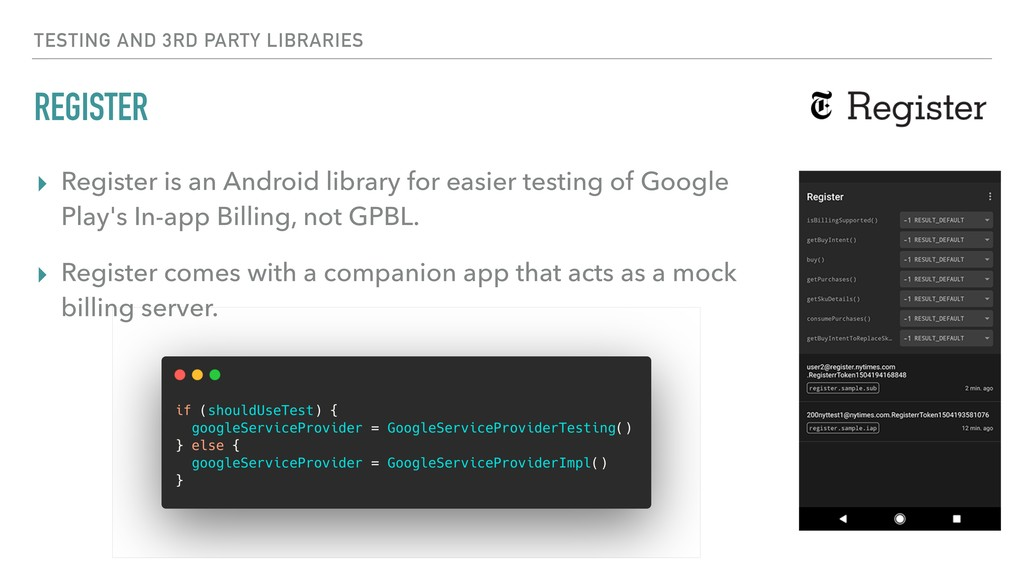 REGISTER ▸ Register is an Android library for e...