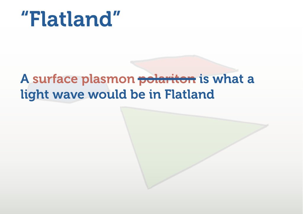 """Flatland"" A surface plasmon polariton is what ..."