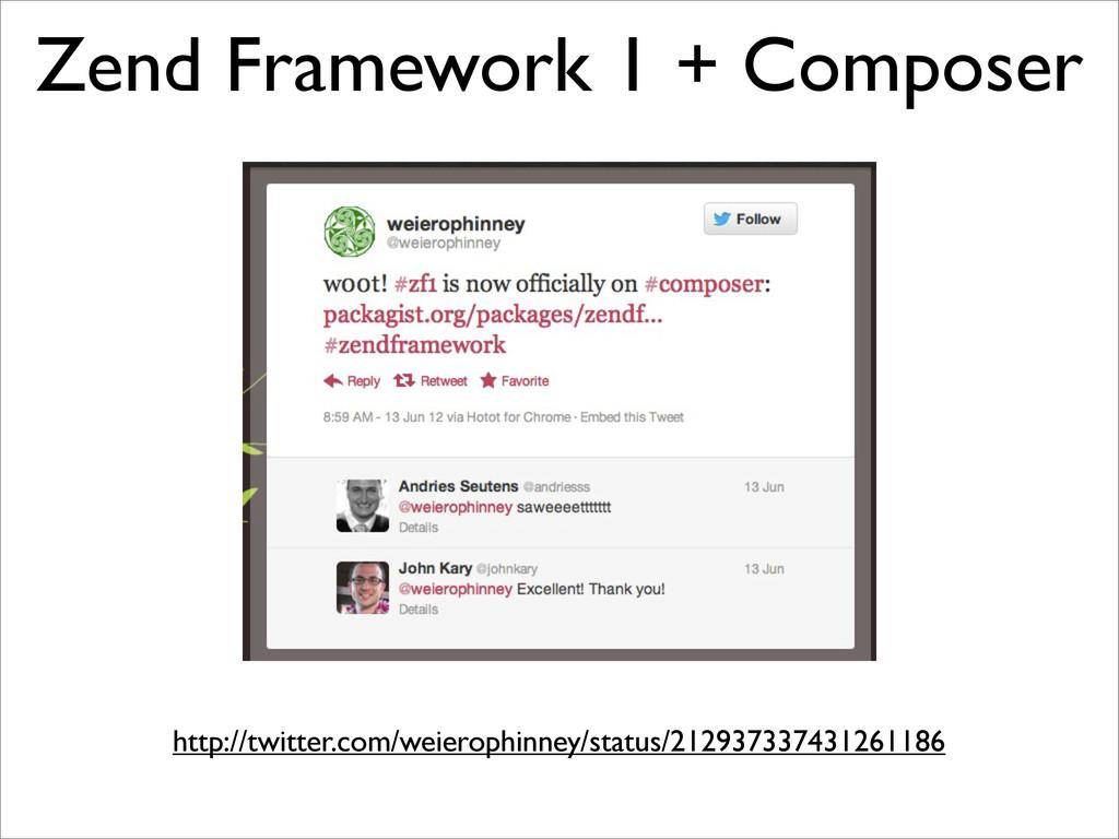 Zend Framework 1 + Composer http://twitter.com/...