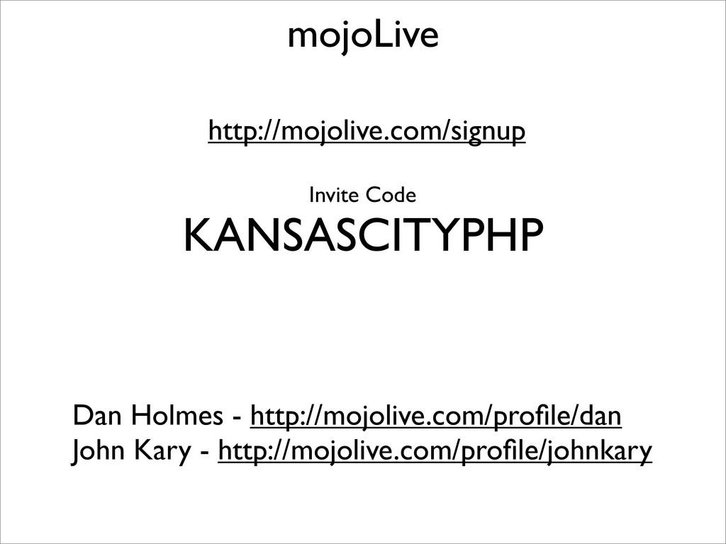mojoLive Dan Holmes - http://mojolive.com/profil...
