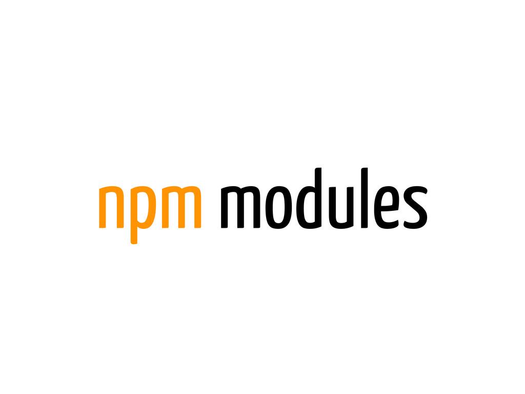 npm modules